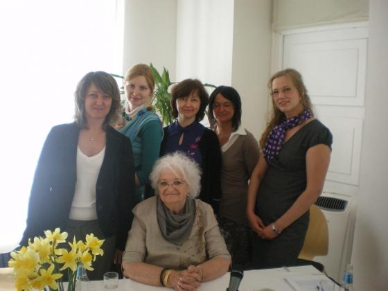 С коллегами и Линдой фон Кейзерлинк