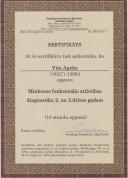 Sertifikāts par Minhenes funkcionālā attīstības diagnostikas 2. un 3.dzīves gadam apgūšanu